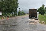 Место ДТП в деревне Именин