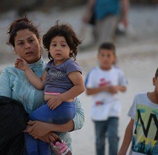 Беженка с детьми. Архивное фото