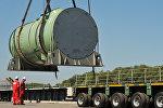 Транспортировка корпуса реактора на строящуюся АЭС, архивное фото