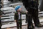 Показательные выступления десантников в Минске