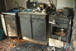 Сгоревшая кухня в доме погибшего пенсионера