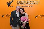Народная артистка России и Абхазии Хибла Герзмава и руководитель Sputnik Абхазия Инал Лазба