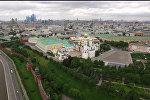 СПУТНИК_Московский Кремль и Соборная площадь с высоты птичьего полета