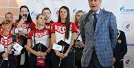 Президент Олимпийского комитета России Александр Жуков (справа) во время проводов олимпийской сборной России в Рио