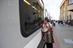 Провожающие на гомельском вокзале