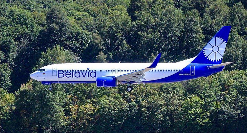 «Белавиа» вбело-голубом. Как выглядит новый белорусский самолёт