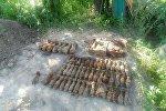 Снаряды, найденные в Мозыре