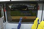 Автобус, в котором ехали журналисты