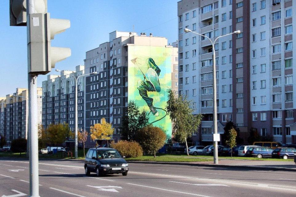 Десятиэтажное граффити некоторое время считалось самым большим в Беларуси
