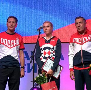 Спутник_Завоевавшую серебро велогонщицу Забелинскую встретили криками и аплодисментами