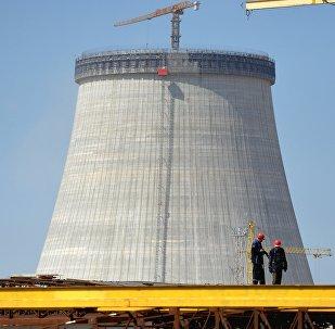 Строительство Белорусской АЭС в Островце, архивное фото
