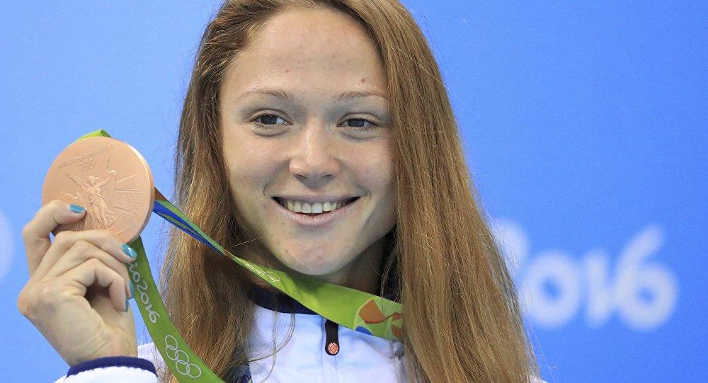 Герасименя на50м вольным стилем завоевала «бронзу»