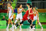 Женская сборная Беларуси по баскетболу в матче против команды Турции на Играх-2016