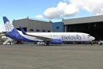 Авиакомпания «Белавиа» представила первый Boeing 737-800 с завода-изготовителя в новой ливрее.
