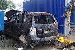 Поврежденный на заправке в Барановичах автомобиль