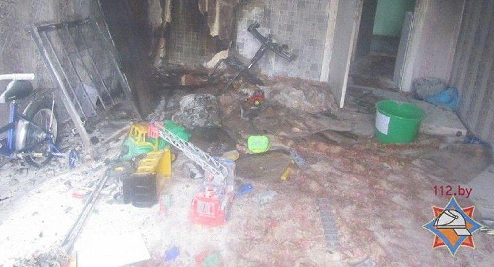 Детская шалость с огнем могла стать первопричиной пожара вГродно