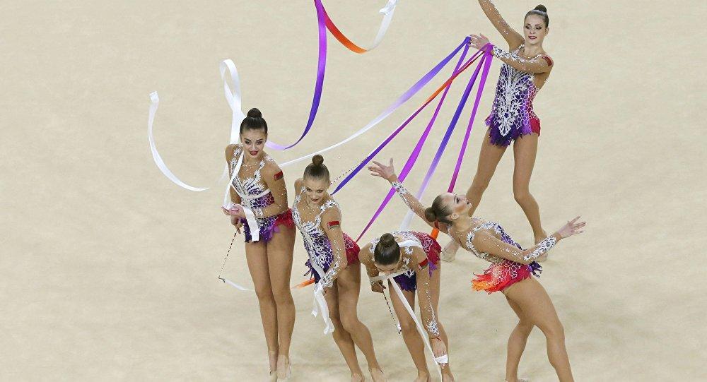 Выступление белорусских гимнасток на Играх-2016