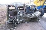 Разбитый автомобиль ГАЗ-66