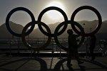 Олимпийские кольца в Рио-де-Жанейро
