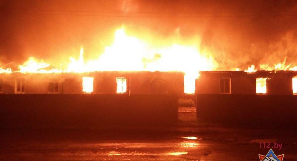 ВСлуцке сгорел цех поремонту мебели