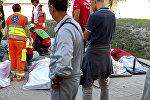 Тела погибших при землетрясении в Италии