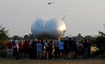Тестовый полет самого большого в мире воздушного судна Airlander 10