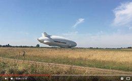 Кадр из видео падения самого крупного воздушного судна