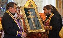 Копия креста Евфросиньи Полоцкой, воссозданная Николаем Кузьмичем
