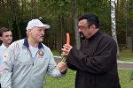 Встреча Александра Лукашенко и Стивена Сигала