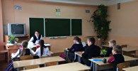 На занятку ў беларускай гімназіі
