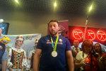 Легкоатлет Иван Тихон в аэропорту