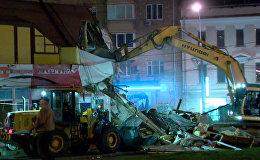 СПУТНИК_Снос самостроя в Москве, или Как коммунальщики уничтожили незаконные постройки