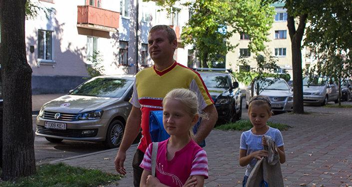Уладзімір Зеляноўскі з дзецьмі