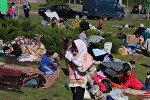 Беженцы из Чечни разбили лагерь у белорусско-польской границы