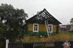 Пожар в деревне Турчилов