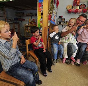 Малодшая школа ў Нерупіне, Германія, архіўнае фота