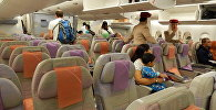 Салон самолета компании Emirates