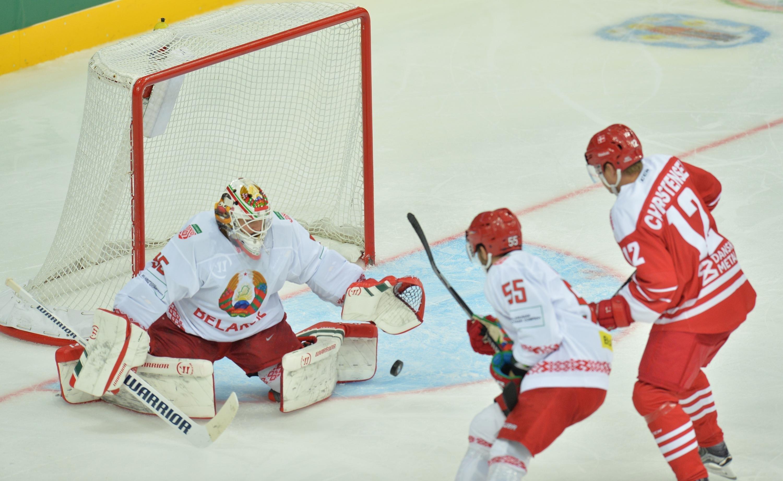 Хоккей. Квалификация Олимпиады. Беларусь— Дания— 5:2!