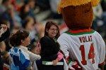 Болельщики на хоккейном матче с участием сборной Беларуси