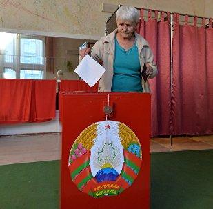 Досрочное голосование на участке в Минске.