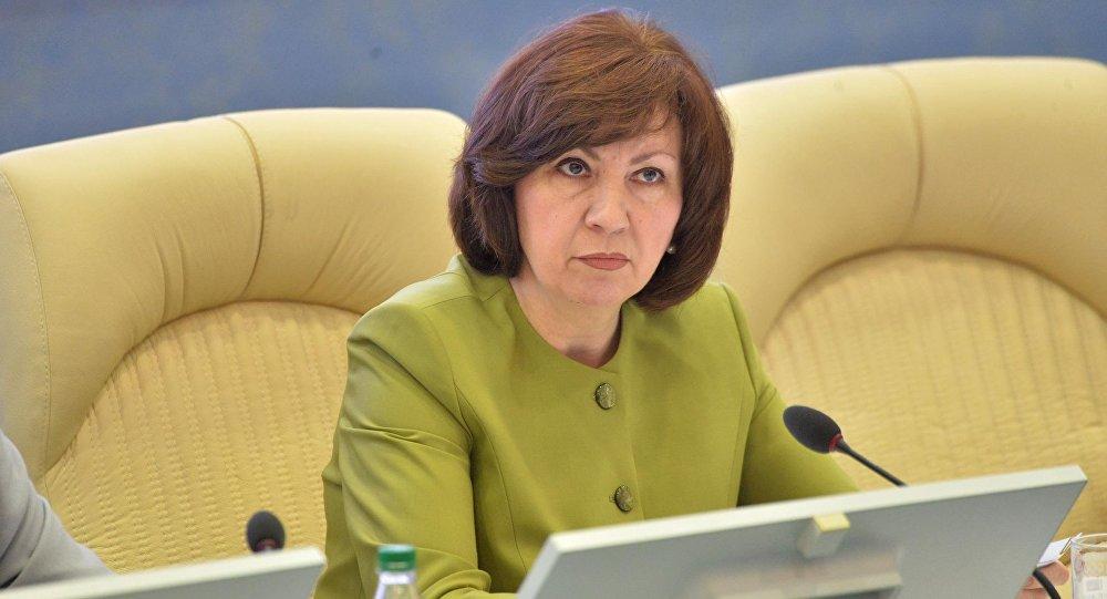 Наталья Кочанова на совместной коллегии НОК и Минспорта.