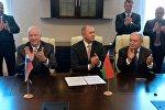 Подписание совместного заявление председателей Следственных комитетов Беларуси, Армении и России
