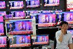 Сообщение о ядерных испытаниях по ТВ в Южной Корее