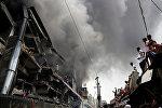 Место взрыва в Бангладеш