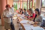 На избирательном участке в Гродненской городской гимназии