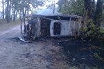 Сгоревшая в Брестском районе машина