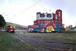 Трамваи на арт-стрит фестивале Vulica Brasil