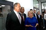 Глава МИД России Лавров поздравил коллектив Sputnik Кыргызстан с открытием центра