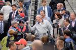 Глава государства приехал вместе с младшим сыном Николаем