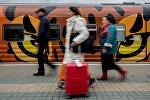 Отправление поезда Россия Москва – Владивосток